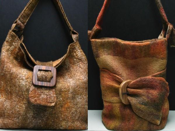 Brown Felt Bags